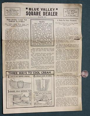 1937 National Blue Valley Creamery Company Square Dealer newsletter-Dairy Farms!