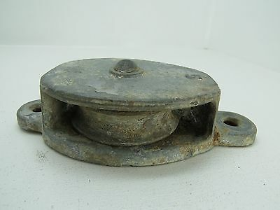 (#1616) 3+ Inch  Wilcox Crittenden Galvanized Steel Deck Pulley Block Tackle