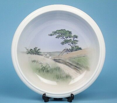 Vintage 1956  ROYAL COPENHAGEN BOWL Idyllic Cottage Scene