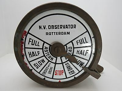 Nv Observator Rotterdam Telegraph Throttle Station Ship Boat Sail Tug (#1643)