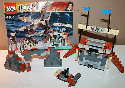Lego 4767 Harry Potter Hungarian Horntail Pieces from the Set and Instructions