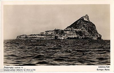 Gibraltar, Europa Point, b+w RP postcard, unposted