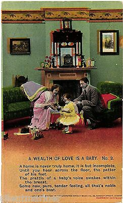 Bamforth Song Postcard, A Wealth of Love is a Baby (3), unposted