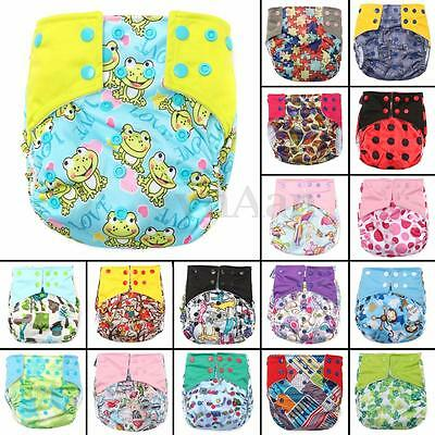 Baby Adjustable Washable Reusable Cover Wrap Pocket Nappy Cloth + Insert Diaper