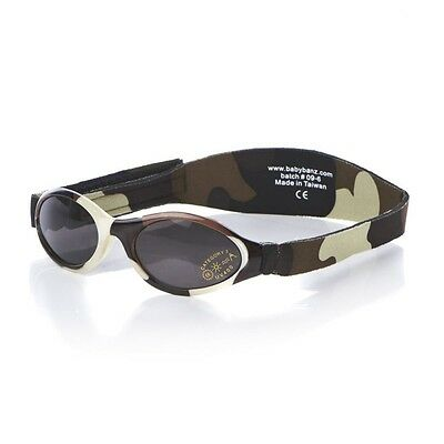 Baby Banz Adventurer Sunglasses 100% UVA/UVB Protection (Ages 0-2yrs) Brown Camo
