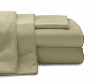 Baltic Linen Super Soft 100perscent Cotton Jersey Sheet Sets Queen, Taupe New