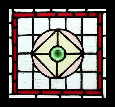 Pretty Victorian Rondel Antique English Stained Glass Window