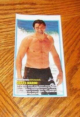 GILLES MARINI Shirtless Male Star Hunk PINUP Clipping 3X7 Chest Devious Maids