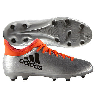 adidas X 16.3 FG 2016 Soccer Shoes Cleats Liquid Silver / Orange Kids - Youth