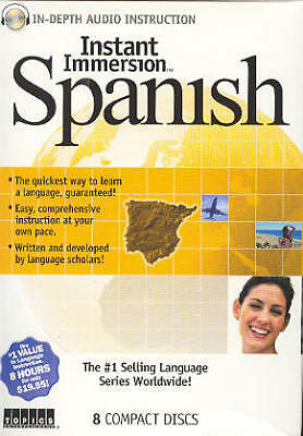 Learn Speak Understand SPANISH Language in your car 8 AUDIO CD's FREE US SHIP
