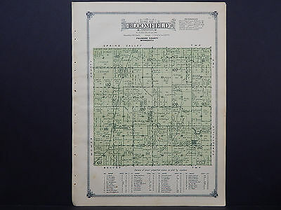 Minnesota, Fillmore County Map, 1915 #06 Township of Bloomfield