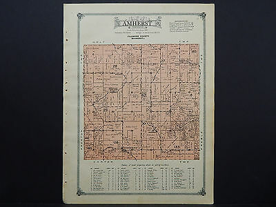 Minnesota, Fillmore County Map, 1915 #11 Township of Amherst