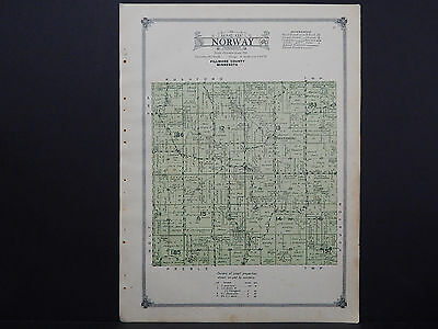 Minnesota, Fillmore County Map, 1915 #13 Township of Norway