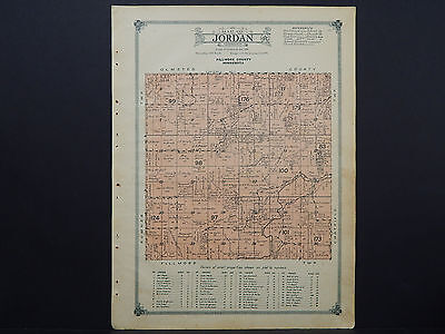 Minnesota, Fillmore County Map, 1915 #20 Township of Jordan