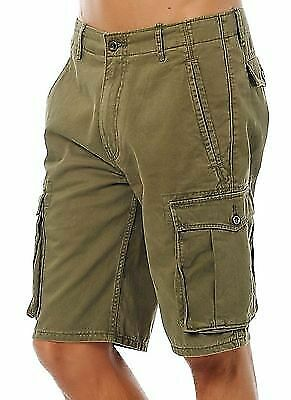New Levi's Men Premium Cotton Cargo Shorts Original Relaxed Fit Green 124630008