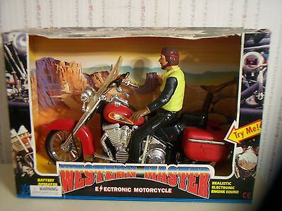 "New-Old Stock! Vintage Battery Operated ""western Master"" Motorcycle"