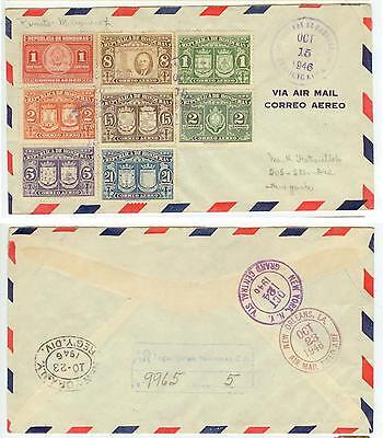 Honduras C155-162 Registered First Day Cover to New York