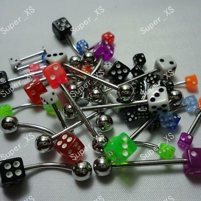 10pcs Wholesale Lots Body Piercing Labret Lip Belly Tongue Eyebrow Bar Rings