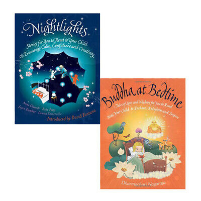 Buddha at Bedtime and Nightlights: Stories for You 2 Books Collection Set NEW PB