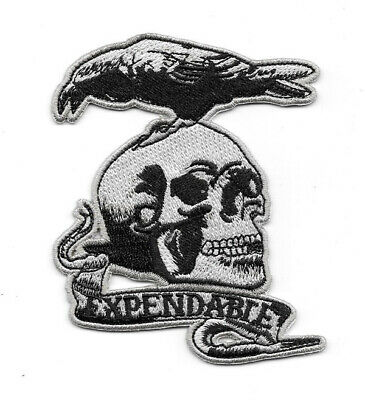 The Expendables Movie Skull and Crow Team Logo Embroidered Patch NEW UNUSED