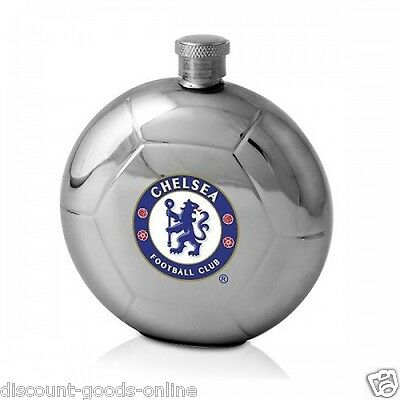 Chelsea Fc Ball Shape Hip Flask Great Birthday Or Christmas Present