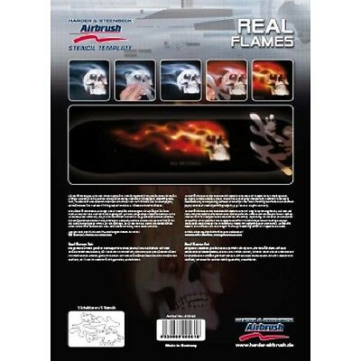 Airbrush Stencil Real Flames 410144  Harder & Steenbeck
