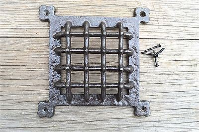 Medieval style iron door window grill spyhole cover vent grill GW9