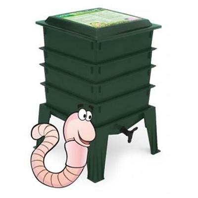 Worm Factory 360 4 Tray with Worms Green continental US shipping only