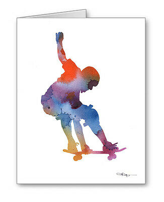 SKATEBOARDER Note Cards With Envelopes