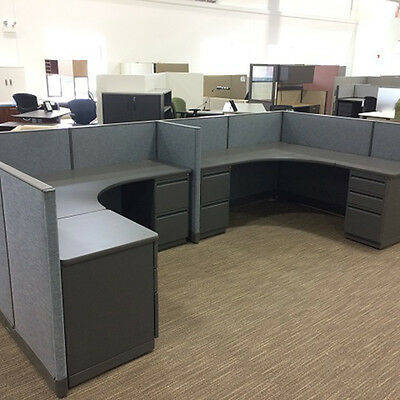 Used Office Cubicles, Haworth Furniture 6x6