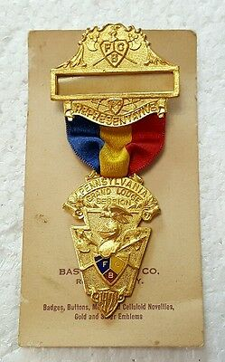 Vintage 1921 Pennsylvania Knights of Pythias Grand Lodge Badge Pin NOC NOS
