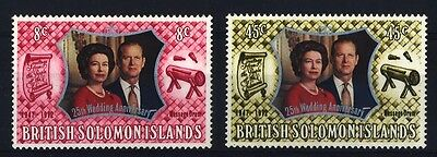 1972 Solomon Islands - 25Th Wedding Anniversary Qeii - Mint - J25