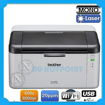 Brother HL-1210W Wireless B&W Laser Printer 20PPM w/ TN-1070 Starter Toner NEW