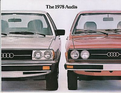 1978 Audi Dealer Car Sales Brochure Literature - Original