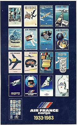 Carte Postale / Postcard / Aviation / Illustrateur / Air France 1933/1983