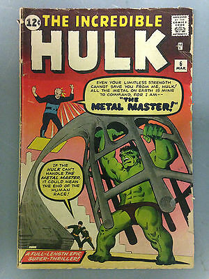 The Incredible Hulk (1963) #6  1St Appearance Of The Teen Brigade Steve Ditko
