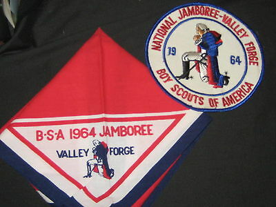 1964 National Jamboreee Neckerchief and Jacket Patch    528A