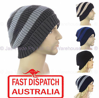 Winter Unisex Men Classic Foldup Fold Up Ear Head Warmer Skull Knit Beanie Hat