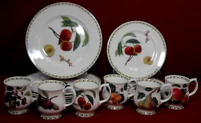 ROSINA QUEEN'S China HOOKER'S FRUIT India 18-piece SET SERVICE for Six (6)