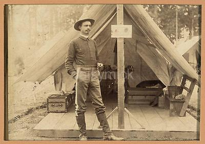 "US Army Volunteer Inf African American Soldier 1898 Lt TR Clarke 7x5"" Reprint"