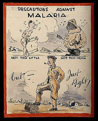 British Army Malaria World War 2 Poster 10x8 Inch Reprint