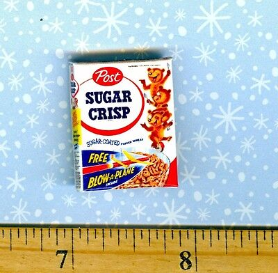 1//2 Half Inch Scale  Dollhouse Miniature Charming Cereal  Box