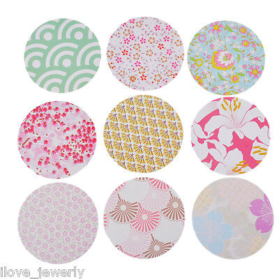 90PCS Decorative Stickers Kit Japanese Style Flower Pattern Home Decor