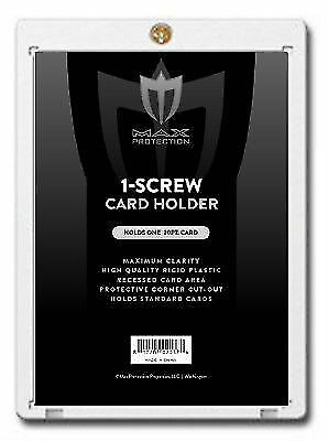 Box of 50 Max Pro 1-Screw Trading Card Screwdowns Holders Standard Size 20pt