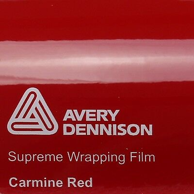 (21,70€/m²) Avery Supreme Wrapping Film Glossy Carmine Red ROT SWF Auto Folie