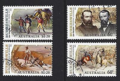 Australia 2010 Burke And Wills Set 4 In Pairs Fine Used