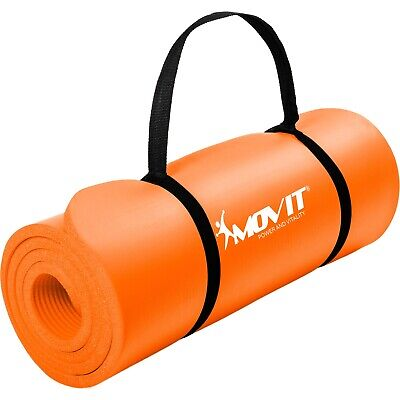 MOVIT 190x60x1,5cm Yogamatte Gymnastikmatte Yoga Matte Fitnessmatte Orange