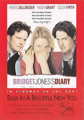 Bridget Jones's Diary Movie NEW postcard! Hugh Grant, Renee Zellweger, 2001
