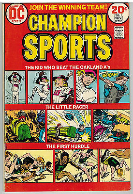 Champion Sports #1 1973 Dc Bronze Age First Issue Nice!