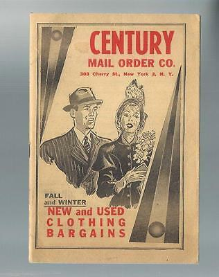 1950's CENTURY MAIL ORDER CO. New York, New & Used Clothing Catalog